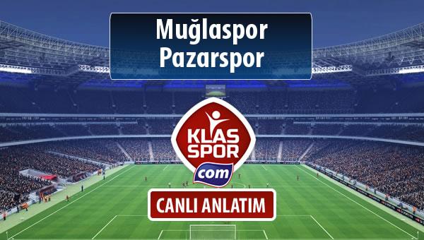 Muğlaspor - Pazarspor maç kadroları belli oldu...