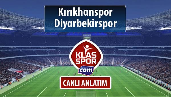 Kırıkhanspor - Diyarbekirspor maç kadroları belli oldu...