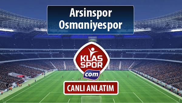 Arsinspor - Osmaniyespor maç kadroları belli oldu...