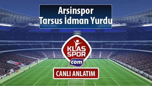 İşte Arsinspor - Tarsus İdman Yurdu maçında ilk 11'ler