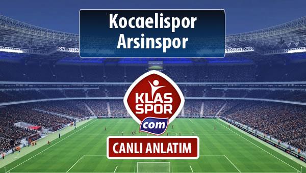 Kocaelispor - Arsinspor sahaya hangi kadro ile çıkıyor?