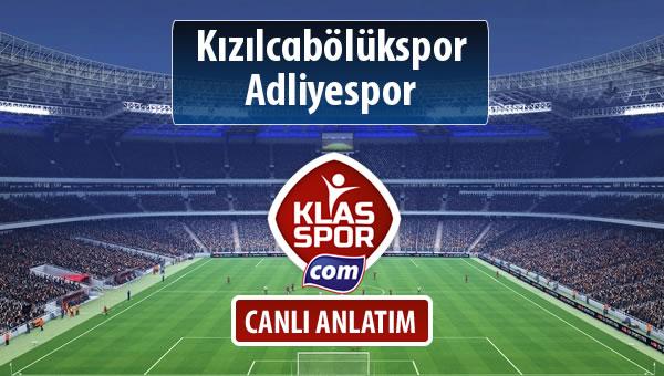 İşte Kızılcabölükspor - Adliyespor maçında ilk 11'ler
