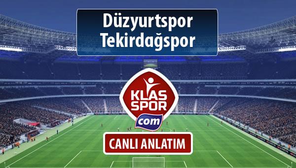 İşte Düzyurtspor - Tekirdağspor maçında ilk 11'ler