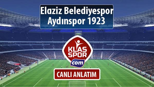 Elaziz Belediyespor - Aydınspor 1923 maç kadroları belli oldu...