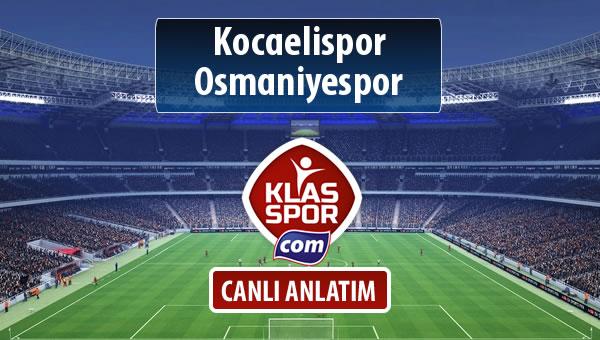 İşte Kocaelispor - Osmaniyespor maçında ilk 11'ler