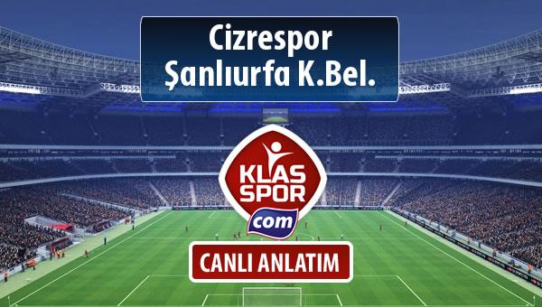 İşte Cizrespor - Şanlıurfa K.Bel. maçında ilk 11'ler