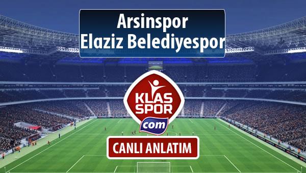 Arsinspor - Elaziz Belediyespor maç kadroları belli oldu...