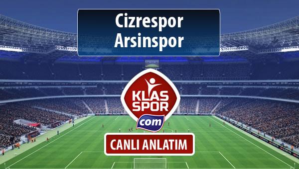 İşte Cizrespor - Arsinspor maçında ilk 11'ler