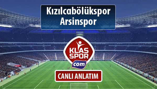 Kızılcabölükspor - Arsinspor maç kadroları belli oldu...