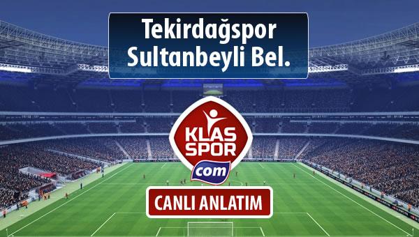 Tekirdağspor - Sultanbeyli Bel. sahaya hangi kadro ile çıkıyor?