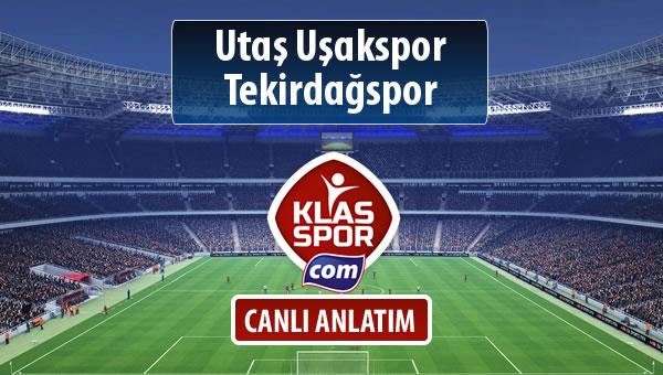 Utaş Uşakspor - Tekirdağspor sahaya hangi kadro ile çıkıyor?