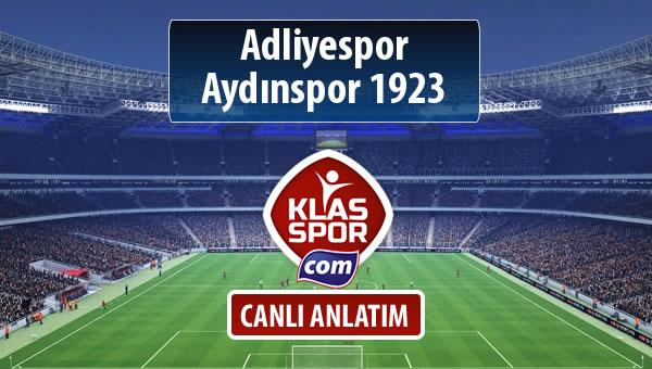 Adliyespor - Aydınspor 1923 sahaya hangi kadro ile çıkıyor?