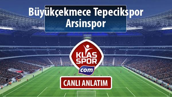 İşte Büyükçekmece Tepecikspor - Arsinspor maçında ilk 11'ler