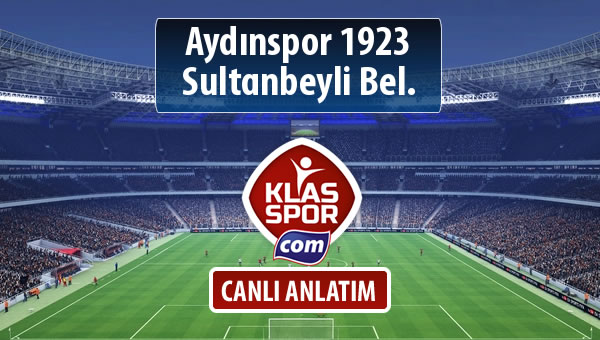 Aydınspor 1923 - Sultanbeyli Bel. maç kadroları belli oldu...