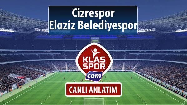 Cizrespor - Elaziz Belediyespor maç kadroları belli oldu...