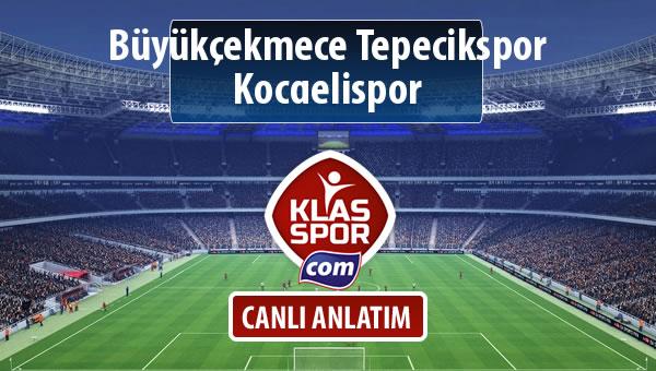 İşte Büyükçekmece Tepecikspor - Kocaelispor maçında ilk 11'ler