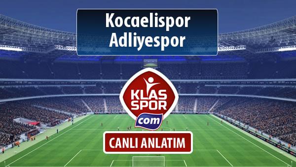 İşte Kocaelispor - Adliyespor maçında ilk 11'ler