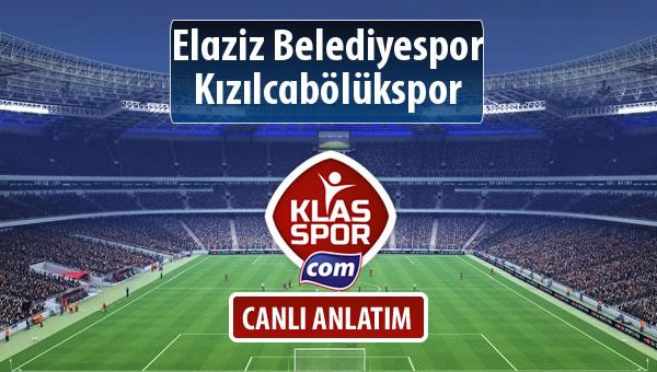 Elaziz Belediyespor - Kızılcabölükspor sahaya hangi kadro ile çıkıyor?