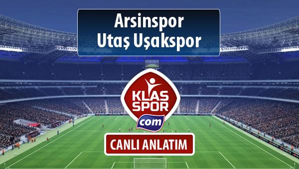 İşte Arsinspor - Utaş Uşakspor maçında ilk 11'ler