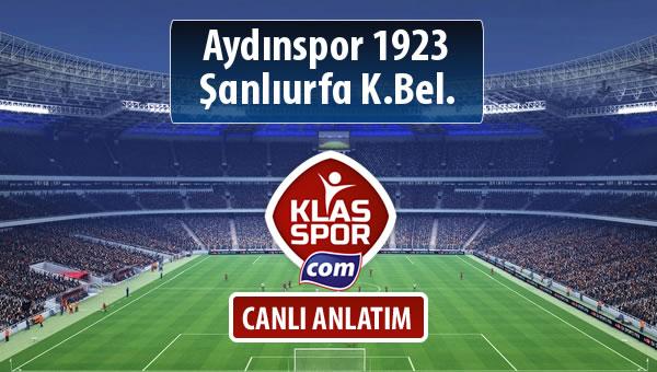 İşte Aydınspor 1923 - Şanlıurfa K.Bel. maçında ilk 11'ler