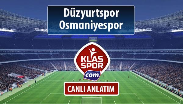 Düzyurtspor - Osmaniyespor sahaya hangi kadro ile çıkıyor?