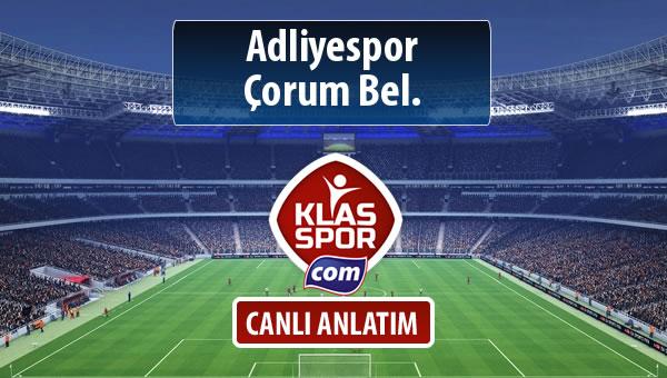 İşte Adliyespor - Çorum Bel. maçında ilk 11'ler