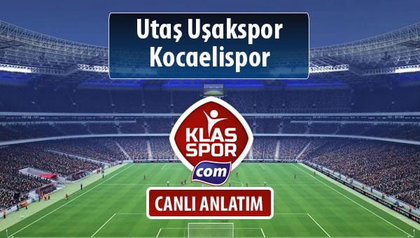 Utaş Uşakspor - Kocaelispor maç kadroları belli oldu...