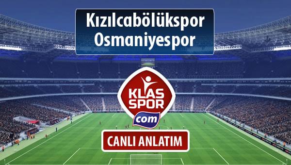 Kızılcabölükspor - Osmaniyespor sahaya hangi kadro ile çıkıyor?