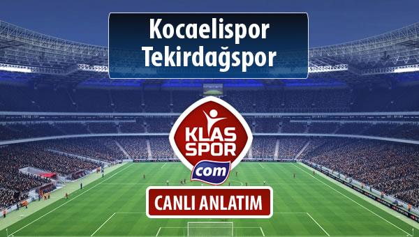 İşte Kocaelispor - Tekirdağspor maçında ilk 11'ler