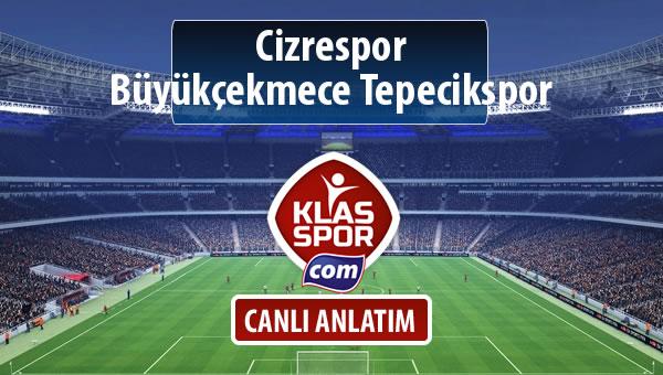 Cizrespor - Büyükçekmece Tepecikspor maç kadroları belli oldu...