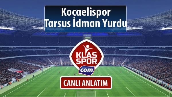 İşte Kocaelispor - Tarsus İdman Yurdu maçında ilk 11'ler