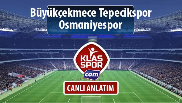 Büyükçekmece Tepecikspor - Osmaniyespor maç kadroları belli oldu...