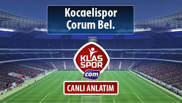 İşte Kocaelispor - Çorum Bel. maçında ilk 11'ler