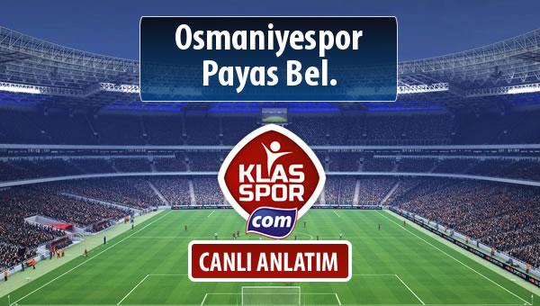 Osmaniyespor - Payas Bel. maç kadroları belli oldu...