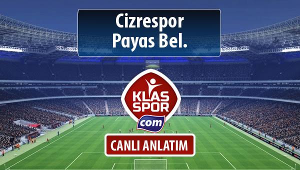 İşte Cizrespor - Payas Bel. maçında ilk 11'ler