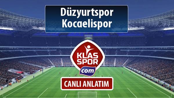 Düzyurtspor - Kocaelispor maç kadroları belli oldu...