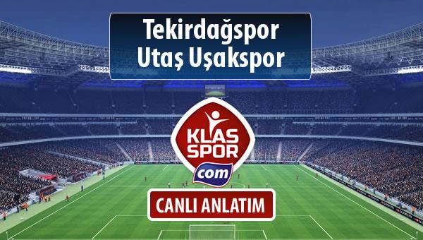 Tekirdağspor - Utaş Uşakspor sahaya hangi kadro ile çıkıyor?