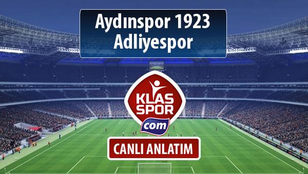 Aydınspor 1923 - Adliyespor maç kadroları belli oldu...