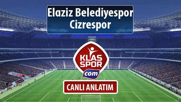 Elaziz Belediyespor - Cizrespor maç kadroları belli oldu...