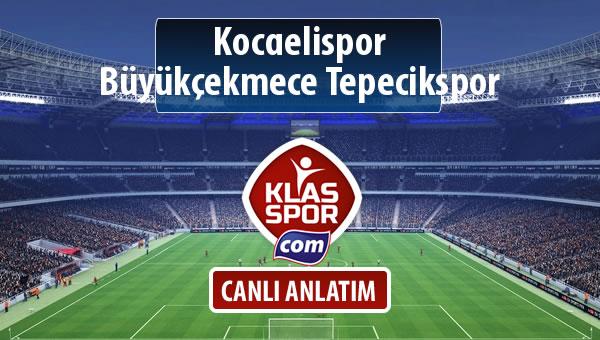 İşte Kocaelispor - Büyükçekmece Tepecikspor maçında ilk 11'ler