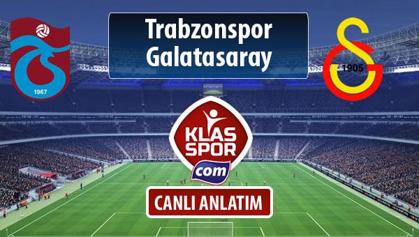 Trabzonspor - Galatasaray maç kadroları belli oldu...