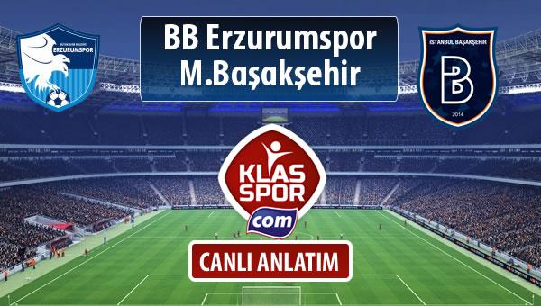 BB Erzurumspor - M.Başakşehir maç kadroları belli oldu...