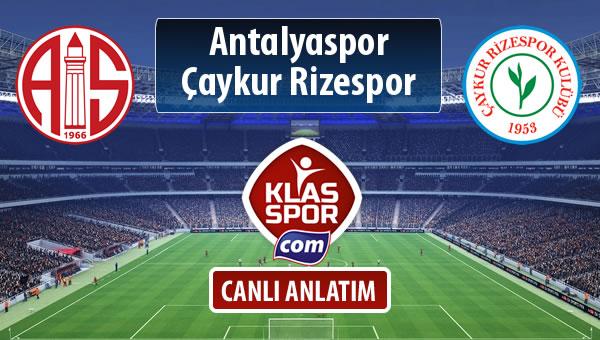 Antalyaspor - Çaykur Rizespor sahaya hangi kadro ile çıkıyor?