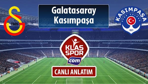 Galatasaray - Kasımpaşa maç kadroları belli oldu...