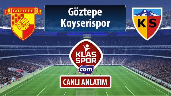 Göztepe - Kayserispor maç kadroları belli oldu...