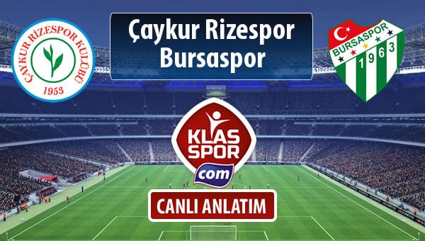 Çaykur Rizespor - Bursaspor maç kadroları belli oldu...