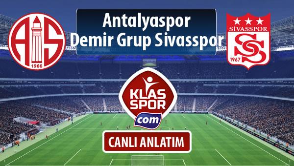 Antalyaspor - Demir Grup Sivasspor maç kadroları belli oldu...
