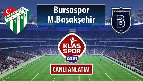 Bursaspor - M.Başakşehir maç kadroları belli oldu...