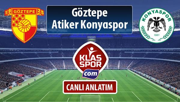 Göztepe - Atiker Konyaspor sahaya hangi kadro ile çıkıyor?