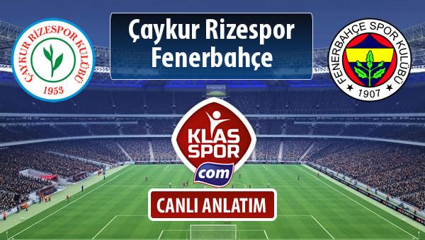 Çaykur Rizespor - Fenerbahçe maç kadroları belli oldu...